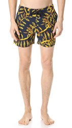 Vilebrequin Moorise Superflex Gold Palms Trunks Gold Palms Print