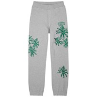 Billionaire Boys Club Palm Embroidered Cotton Jogging Trousers Grey