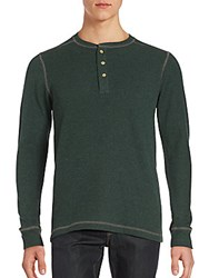 Vintage Ribbed Long Sleeve Henley Hunter