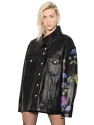 Alyx Oversized Floral Printed Leather Jacket