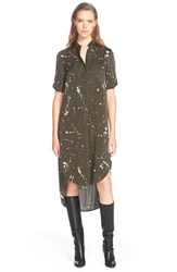 Women's Foundrae Splatter Print Stretch Silk Shirtdress