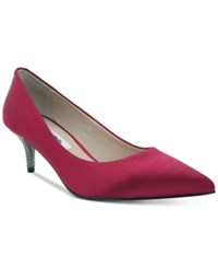 Nina Teressa Pointed Toe Kitten Heel Pumps Women's Shoes Scarlett