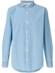 Eleventy Classic Fitted Shirt Blue