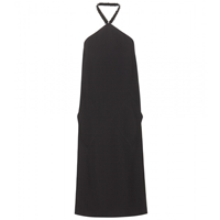 Balenciaga Embellished Halterneck Dress Black