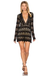Nightcap Plunging V Sierra Romper Black
