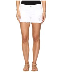 Blank Nyc Distressed White Shorts In White Lines White Lines Women's Shorts