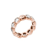 Michael Kors Crystal Rose Gold Tone Circle Ring
