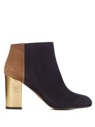 Marni Bi Colour Suede Ankle Boots Navy Multi