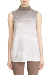 Lafayette 148 New York Women's Ombre Stitch Sleeveless Sweater Cloud Multi