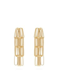 Rosantica By Michela Panero Muse Tiered Chain Drop Earrings Gold