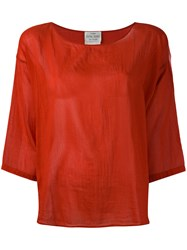 Forte Forte Three Quarter Sleeve Blouse Red