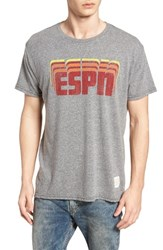 Retro Brand Espn Graphic T Shirt Streaky Grey