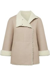 Akris Atlanta Reversible Shearling Jacket Stone