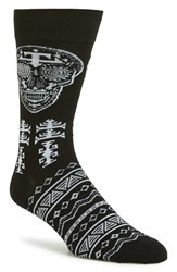 Men's The Rail Skull Jacquard Pattern Socks 3 For 25