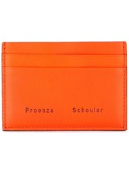 Proenza Schouler Origami Card Holder Yellow And Orange