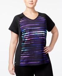 Ideology Plus Size Printed Performance T Shirt Only At Macy's Blue Distress