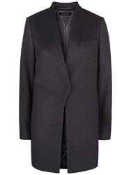 Jaeger Wool And Cashmere Coat Charcoal