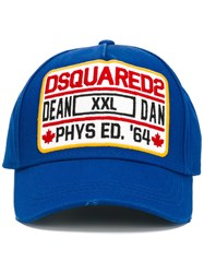 Dsquared2 Phys Ed Baseball Cap Blue