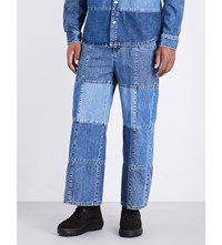 Mcq By Alexander Mcqueen Wide Leg Mid Rise Patchwork Jeans Patchwork Denim