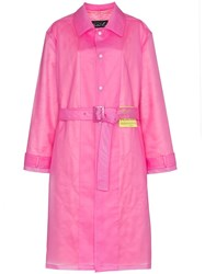 Martine Rose M Coat Rain Ls W Belt Pink And Purple