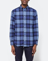 Gitman Brothers Vintage 1 Sided Check Flannel In Blue