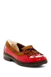 Haylie Uggpure Tm Lined Boat Shoe Red