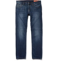 Jean Shop Mick Slim Fit Washed Selvedge Denim Jeans Indigo