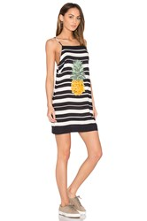 Farm Striped Pineapple Dress Black And White