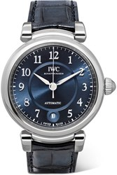 Iwc Schaffhausen Da Vinci Automatic 36 Alligator And Stainless Steel Watch Silver