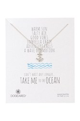 Dogeared Sterling Silver Take Me To The Ocean Anchor Necklace Metallic