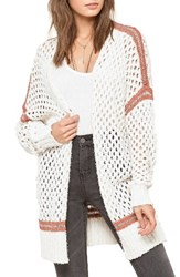 Amuse Society Women's Malita Knit Mesh Cardigan