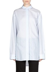 Acne Studios Striped Button Down Shirt Thin Blue