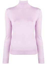 Theory Long Sleeved Turtle Neck Jumper Purple