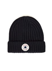 Converse Blue Navy Ribbed Beanie