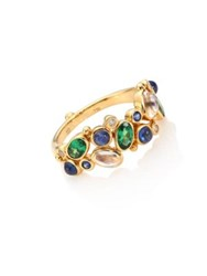 Temple St. Clair Mare Diamond Royal Blue Moonstone Blue Sapphire Tsavorite And 18K Yellow Gold Ring Gold Multi