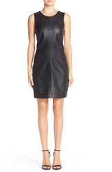 Tart 'Elyse' Faux Leather And Ponte Sheath Dress Black