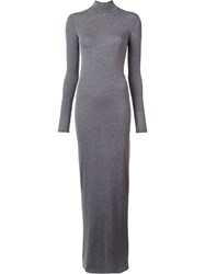 Gareth Pugh Long Jersey Dress Grey