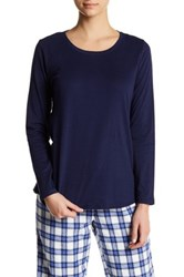 Joe Fresh Long Sleeve Scoop Neck Tee Blue