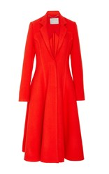 Jason Wu Fit And Flare Wool Coat Red