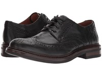 Frye Graham Wingtip Black Pull Up Leather Men's Lace Up Wing Tip Shoes