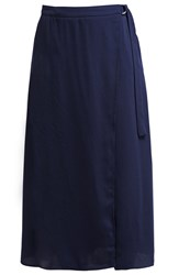 Kiomi Wrap Skirt Dark Blue