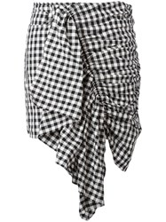 Marques Almeida Marques'almeida Checkered Ruffle Skirt White