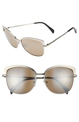 Draper James Women's 60Mm Cat Eye Sunglasses Shiny Gunmetal