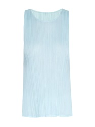 Issey Miyake A Line Sleeveless Pleated Mini Dress
