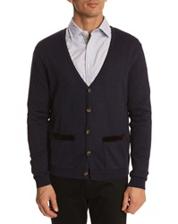Menlook Label Classic Navy Cardigan