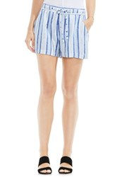 Vince Camuto Women's Two By Stripe Linen Blend Shorts