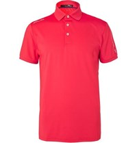Rlx Ralph Lauren Slim Fit Stretch Jersey Golf Polo Shirt Pink