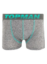 Topman Green Salt And Pepper Sports Trunks