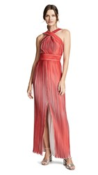 Yigal Azrouel Origami Pleated Halter Neck Dress Bright Red