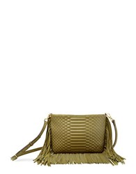 Brian Atwood Landon Leather Crossbody Moss